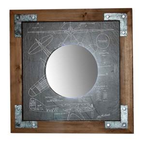 DSZ70х70 AV Зеркало квадратное Лофт Авиатор